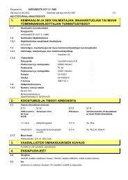 1. kemikaalin ja sen valmistajan, maahantuojan tai muun ... - HL Group