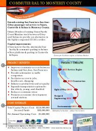 commuter rail to monterey county - Transportation Agency for ...