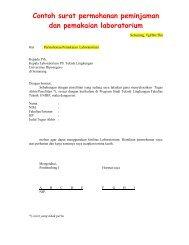 Contoh surat permohonan peminjaman dan pemakaian laboratorium