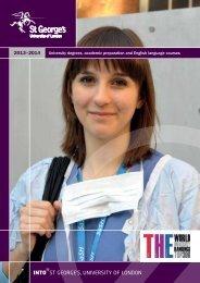 INTO St George's University of London prospectus 2013 - 14