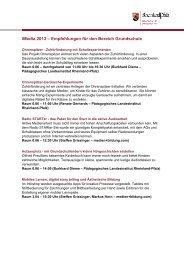 Empfehlungen für den Bereich Grundschule - iMedia