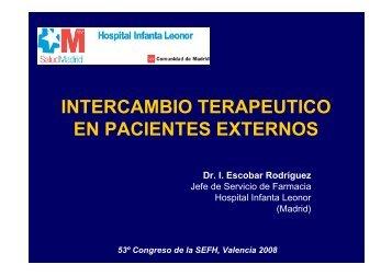 INTERCAMBIO TERAPEUTICO EN PACIENTES EXTERNOS