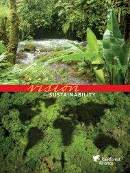Vision for Sustainability - Rainforest Alliance