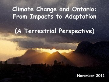 Climate Change and Ontario - Ontario Centre for Climate Impacts ...