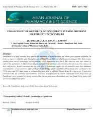 ENH - Asian Journal of Pharmacy and Life Science
