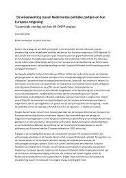 De wisselwerking tussen Nederlandse politieke partijen en hun ...