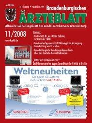 Ausgabe 11/2008 (PDF, 6972 kByte) - Landesärztekammer ...