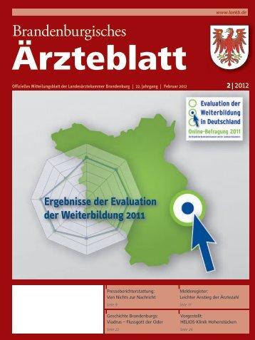 Ausgabe 2/2012 - Landesärztekammer Brandenburg