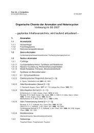 Dr. J. Christoffers - Organische Chemie - Christoffers - Universität ...