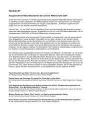 Pressetext Impuls Mittelschule als pdf - Kantonsschule Küsnacht