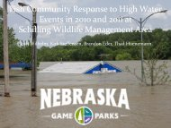 Fish Community Response to High Water Events in 2010 and 2011 ...