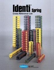 """1 new DANLY IEM 1/"""" x 6/""""L x 1//2/"""" rod Extra Heavy Duty Yellow Die Spring 9-1624-36"""