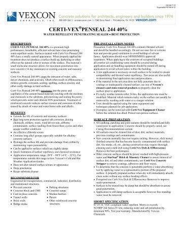 CERTI-VEX PENSEAL 244 40% - Vexcon Chemicals