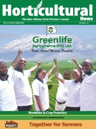 Horticultural news magazine September - October - Hortinews.co.ke