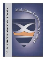 MPCC Student Code of Conduct - Mid Plains Community College