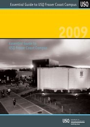 Essential Guide to USQ Fraser Coast Campus Essential Guide to ...