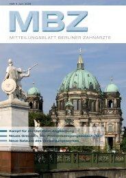 MBZ Ausgabe 06/2009 - Zahnärztekammer Berlin
