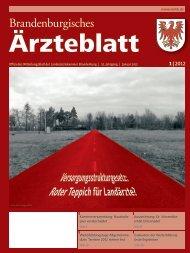 Ausgabe 01/2012 - Landesärztekammer Brandenburg