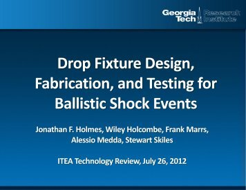 Design, Integration, and Testing of a Drop Test - International Test ...
