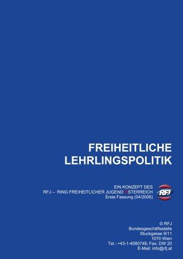 freiheitliche lehrlingspolitik - Ring Freiheitlicher Jugend Salzburg