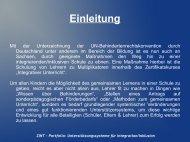 Portfolio: Unterstützungssysteme für Integration/Inklusion