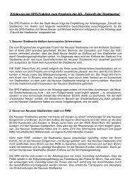 Erklärung zur Zukunft der Neusser Stadtwerke - Reiner Breuer