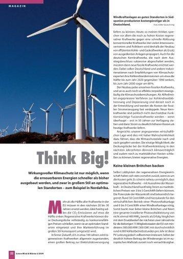 Think Big! - Volker Quaschning