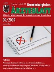 Ausgabe 09/2009 - Landesärztekammer Brandenburg