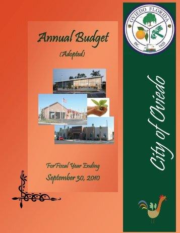 FY 2009-10 Annual Budget - City of Oviedo