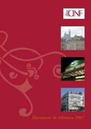 Document de référence 2007 - ANF Immobilier