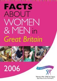 Facts about women and men in Great Britain 2006 - UNECE