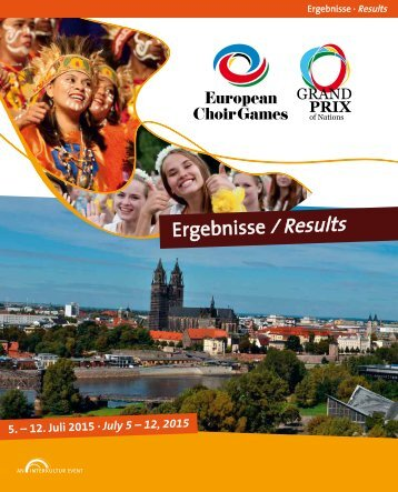 European Choir Games & Grand Prix of Nations 2015 - RESULTS