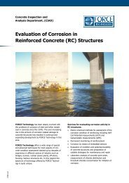 Evaluation of Corrosion in Reinforced Concrete (RC) Structures