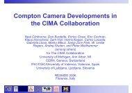 Compton Camera Developments in the CIMA Collaboration
