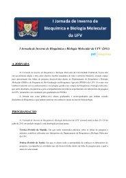 I Jornada de Inverno de Bioquímica e Biologia Molecular da UFV ...