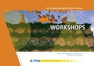 Brochure workshops - European Union Agency for Fundamental ...