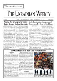 2009: the year in review - The Ukrainian Weekly