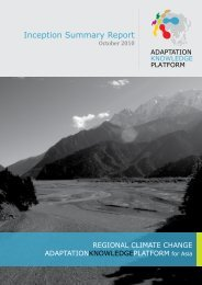 Inception Report - Regional Climate Change Adaptation Knowledge ...