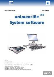 animeo® IB+ System software - Somfy