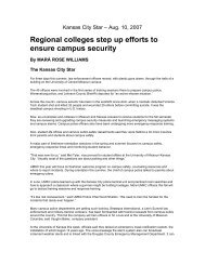 Regional colleges step up efforts to ensure campus security