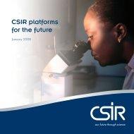 CSIR platforms for the future