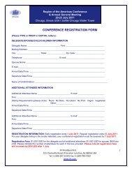 CONFERENCE REGISTRATION FORM - JHI