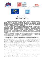 Progetto SanitAbile Scheda di Segnalazione - simferweb.net