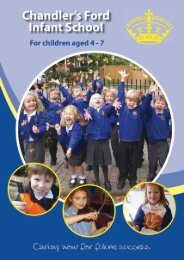 Click here for our Prospectus - Chandler's Ford Infant School