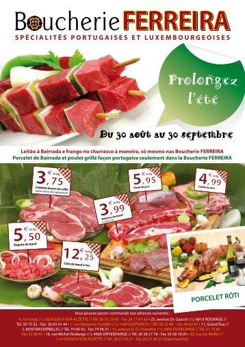 spécialités portugaises et luxembourgeoises - Boucherie FERREIRA