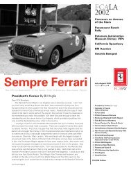 Volume 9 Issue 4 - July/August 2002 - Ferrari Club of America ...