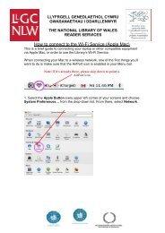 How to connect to the Wi-Fi Service - Llyfrgell Genedlaethol Cymru