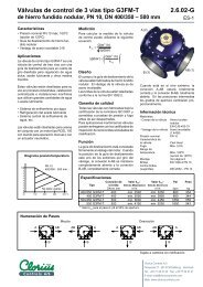 Válvulas de control de 3 vías tipo G3FM-T, de ... - Clorius Controls