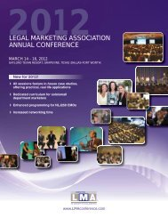 legal marketing association annual conference - American ...