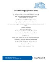 Bar/Bat Mitzvah Package - Faculty House